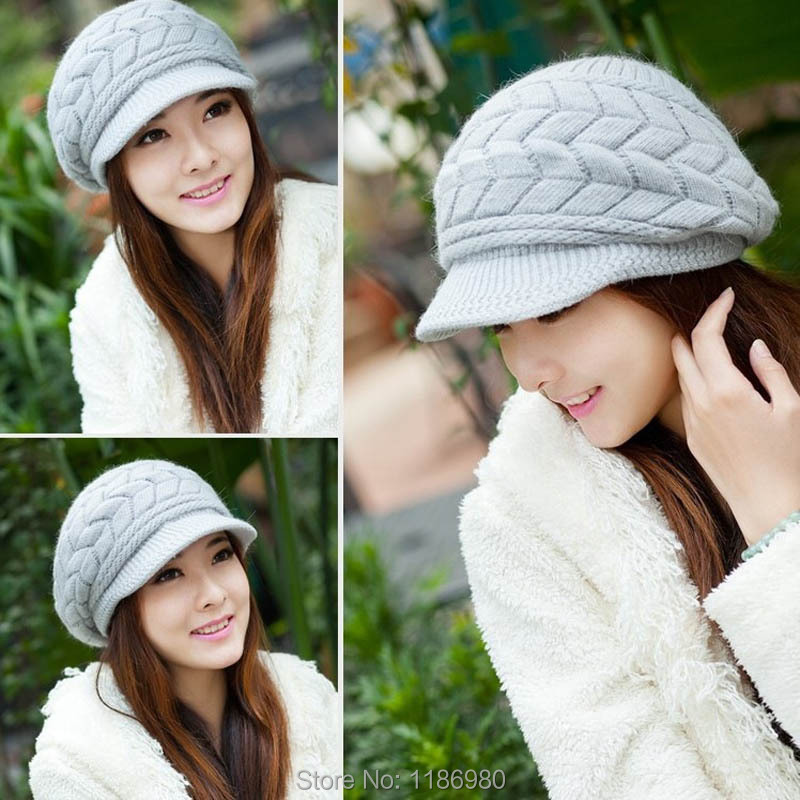Fashion Womens Lady Hat Cap Winter Warm Knitted Crochet Slouch Baggy Beanie(China (Mainland))