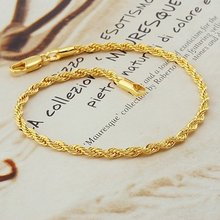 fashion jewelry, twist 18k yellow gold filled bracelet,18k bangle 18k bracelet bangle ,gold bracelet(China (Mainland))