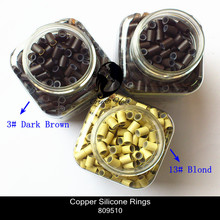 Wholesale - 20000 pieces/Lot Silicone Copper Micro Ring 3.4mm & 4.0mm for Hair Extension, Free Shipping(China (Mainland))
