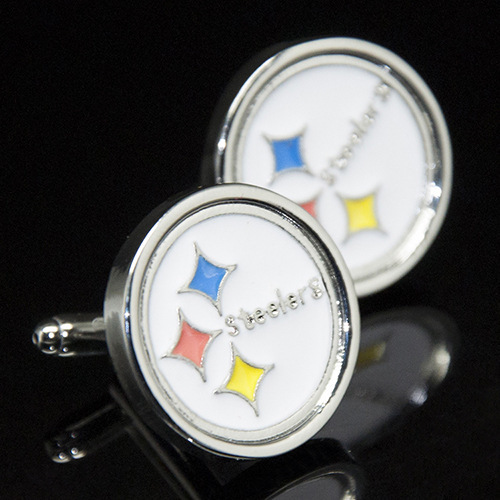 Wholesale 10 pairs The Pittsburgh Steelers rugby Cufflinks Cuff nails French Cufflinks for men Garment Accessories(China (Mainland))