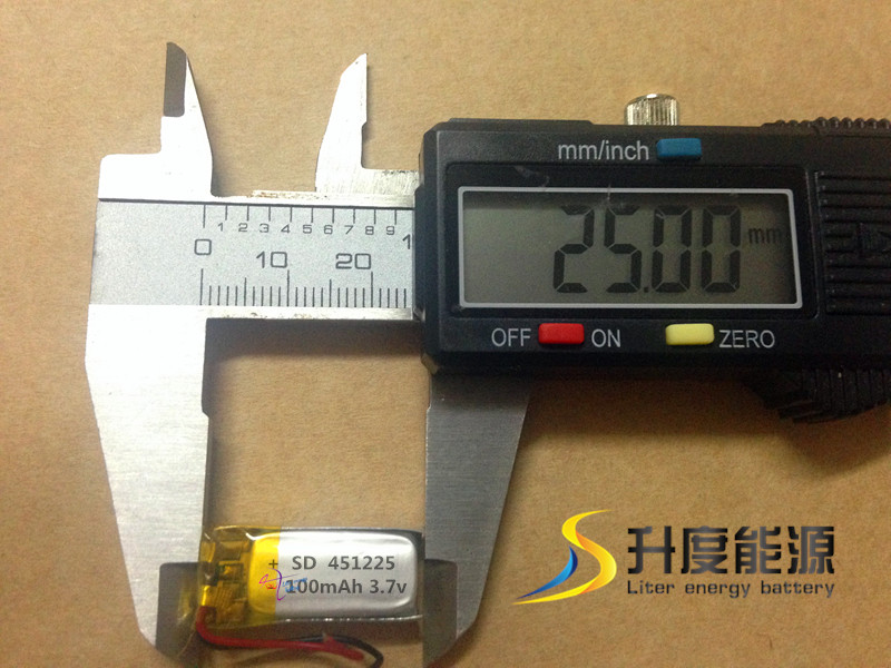 mini. battery, battery pack rechargeable lithium 3.7V 100mAh 451225(China (Mainland))