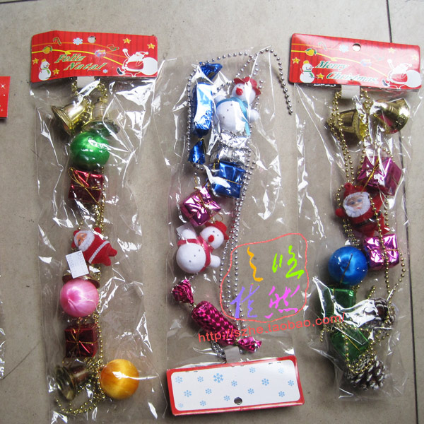 Free shipping Christmas decoration chain christmas tree snowman candy gifts(China (Mainland))