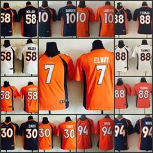 100% stitched youth Denver Broncos children 94 DeMarcus Ware 7 John Elway 58 Von Miller 88 Demaryius Thomas 30 Anthony Davis(China (Mainland))