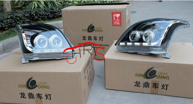 LED Angel Eyes Headlights For TOYOTA FJ120 LC120 Prado 2700 4000 2003-2009(China (Mainland))