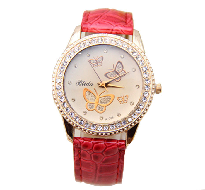 10 Colors Relojes De Marca Mujer 2015 Women Butterfly Watches Luxury Crystal Watch Women Ladies Wristwatches WQ013(China (Mainland))