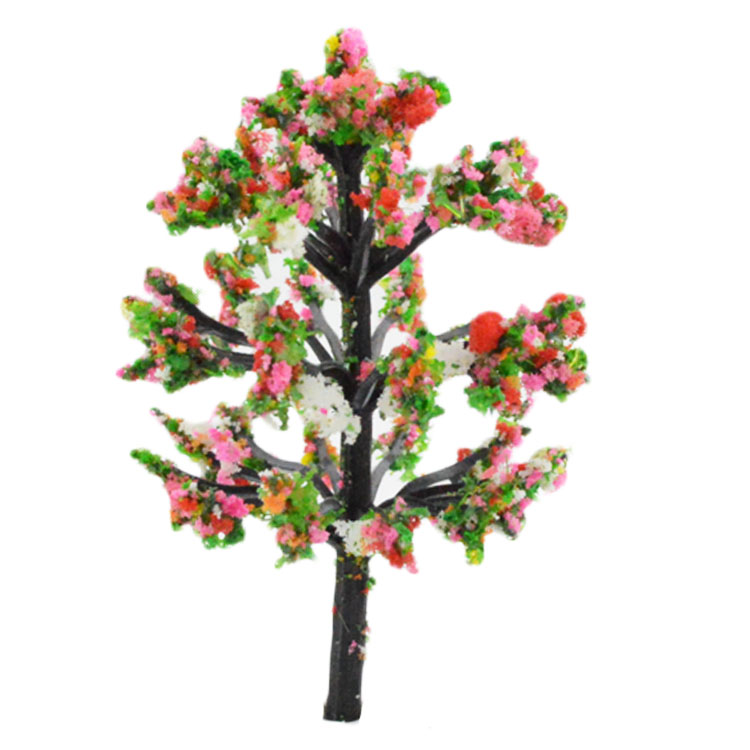 1:50-1:500 scale Colorful Tree Scenery LandsCape TraIn Model Trees Sand Table Artificial Plastic Trees Scale(China (Mainland))