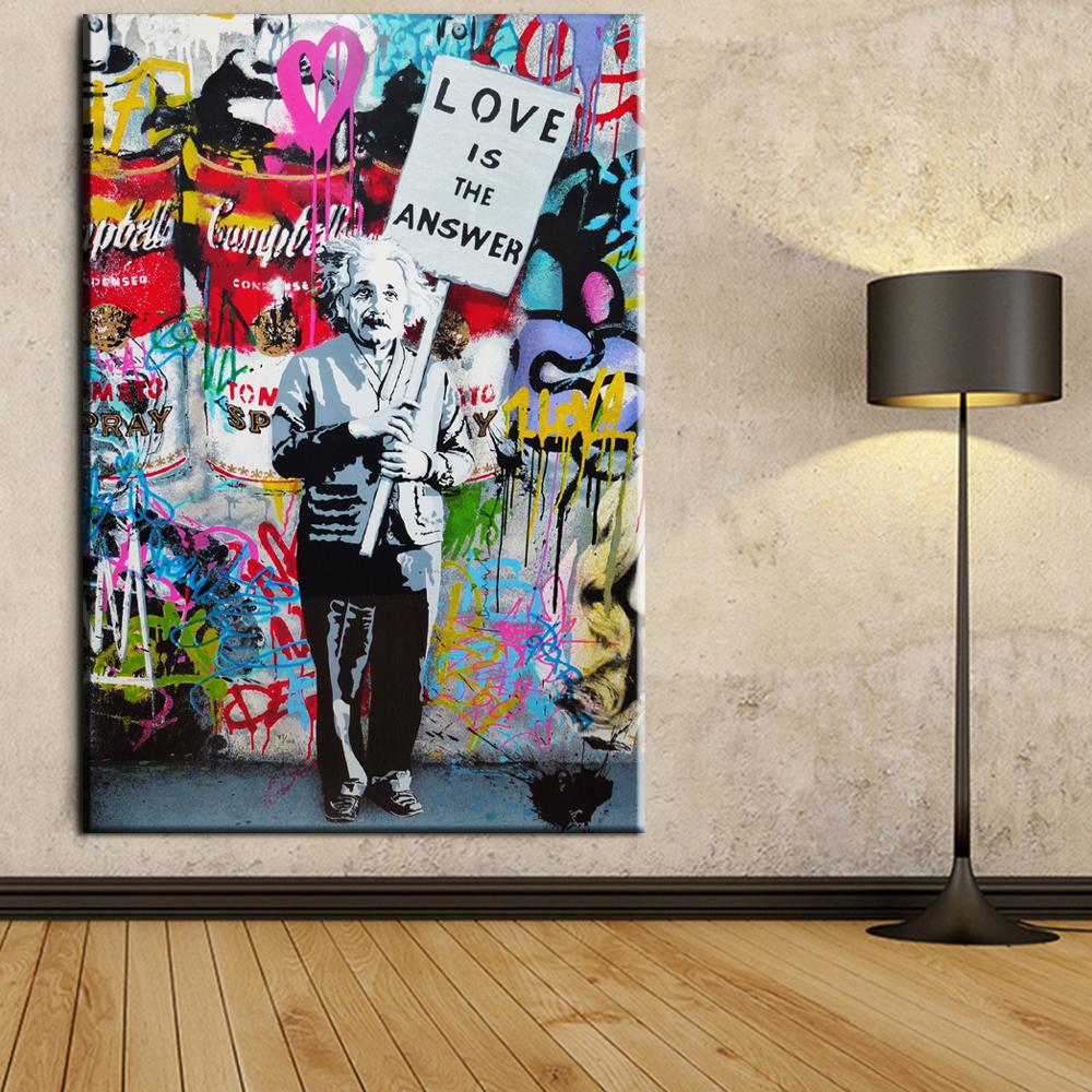 online kaufen gro handel banksy graffiti aus china banksy graffiti gro h ndler. Black Bedroom Furniture Sets. Home Design Ideas