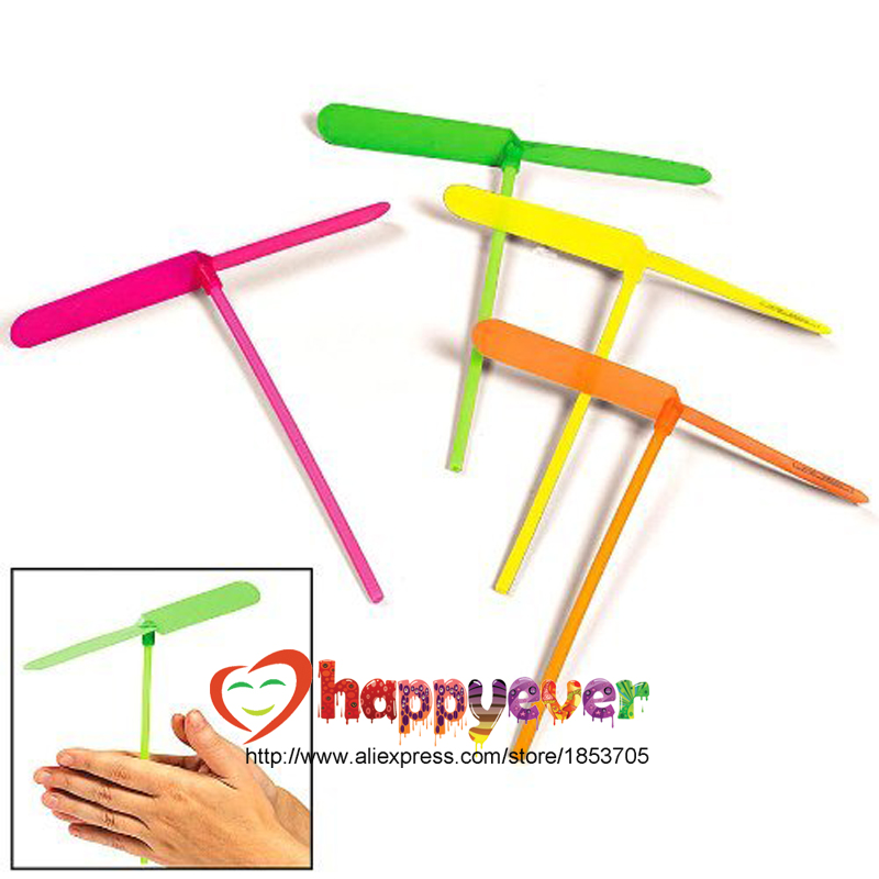 24PCS Plastic Dragonfly Assortment Mini Whirl A Copter Helicopter Birthday Pinata Fillers Kids Party Toy Favor Bag(China (Mainland))