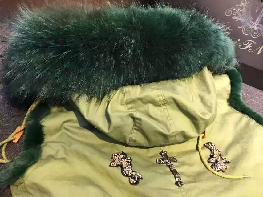 Free shipping factory price 6 Color snack  beading faux rabbit fur lined big raccoon fur collar Mr Mrs furs jacket waistcoat