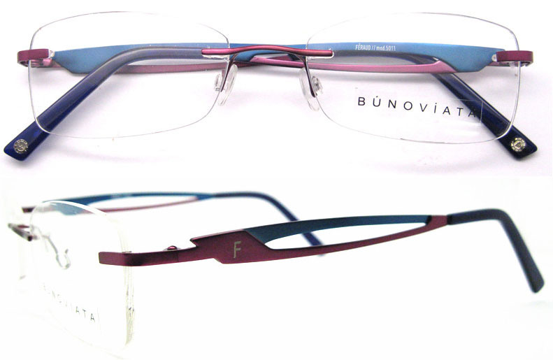 Titanium Eyeglass Frames China : Free shipping hot sell 2014 high end rimless titanium ...