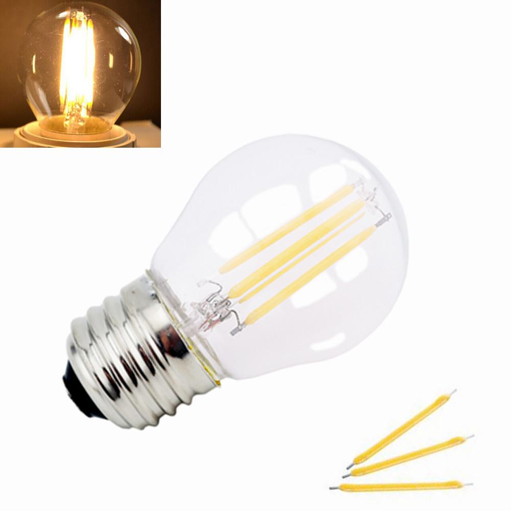 G45 E27 Screw Base LED Light Bulb 2W 4W Filament Bulb 360 Degree Beam Angle Energy Saving Glass Globe LED Lamp(China (Mainland))