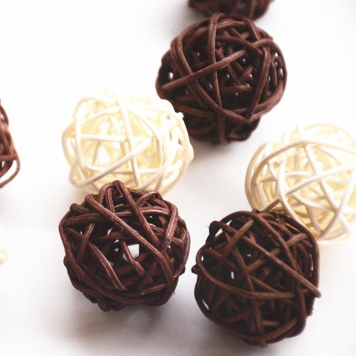 Christmas Tree Decorative Rattan Ball,Wedding And Home Ornament Craft Ball 5cm 30pcs/Lot Free Shipping(China (Mainland))