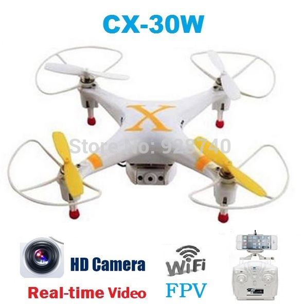 Cheerson CX-30W CX-30 4CH 2.4GHz FPV RC Quadcopter Helicopter Wifi Smart Phone Control Drone With HD Camera Real-Time Video(China (Mainland))