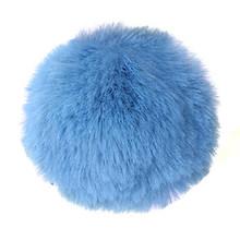 Chaveiro de pele de coelho do falso bola pom pom pom mouse chaveiros saco encantos trinket carro presente(China)