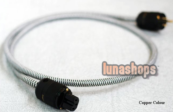 1m Copper Colour CC Whisper II Power Cable Silver Alloy 5.5 Square LN002692(China (Mainland))