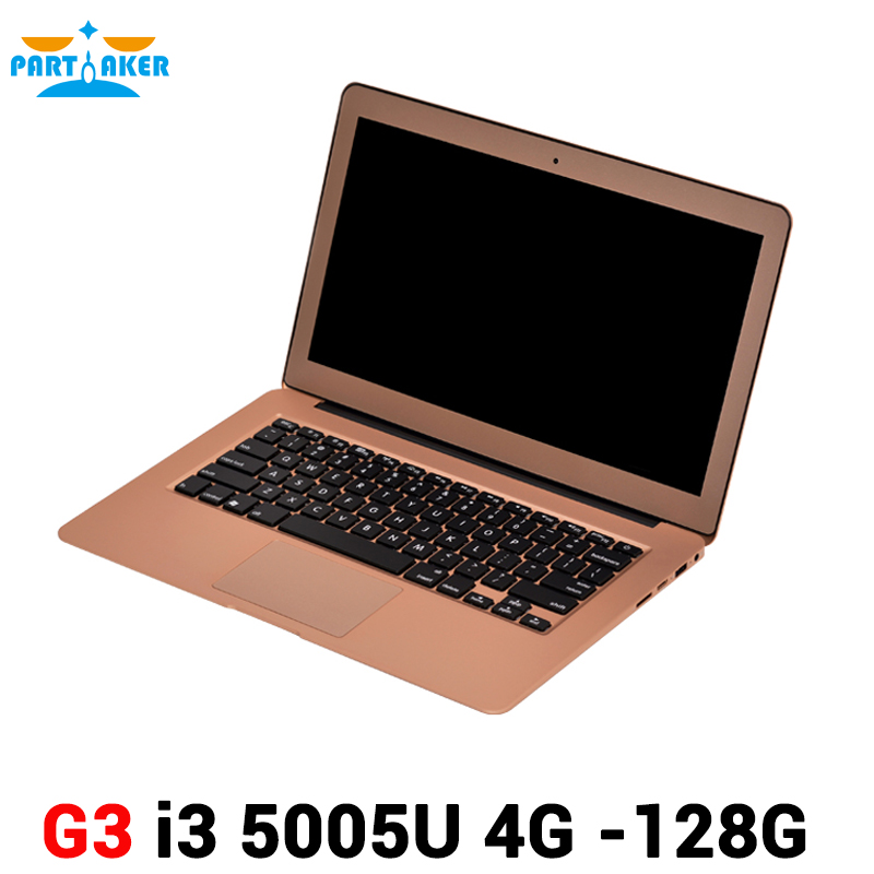 Partaker 13.3 inch Ultra Thin Laptop Notebook Computer with Broadwell i3 5005u Processor 2.0M FHD Camera HDMI Webcam(China (Mainland))