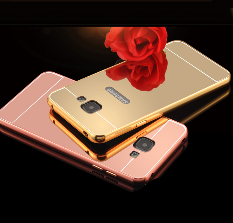 Luxury Aluminum Metal Mirror Case For Samsung Galaxy A5 2016 A5100 A510F Back Cover Brand New Ultra Thin Mobile Phone Case(China (Mainland))