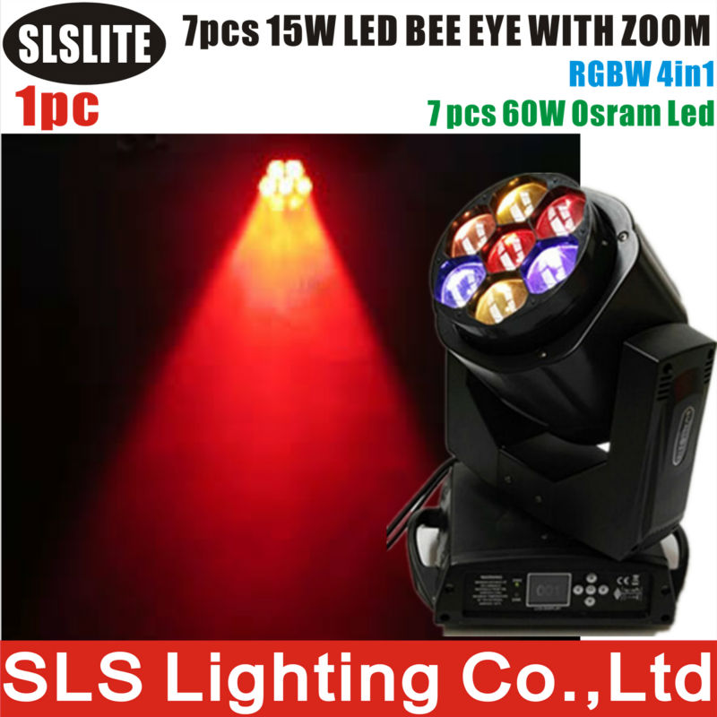 stage light used 7x15w 4in1 zoom beam led b eye moving head Most popular 7 x15W Bee eye LED Moving Head Lights B Eye 7x15w(China (Mainland))