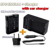 EN-EL14 en-el14a EN EL14 Battery decoded bateria +charger +car cable For nikon ENEL14 d5300 d5200 d5100 d3100 d3200 P7100 P7800(China (Mainland))