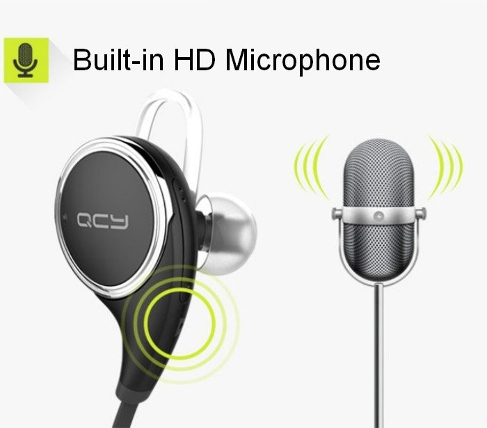 Original New QCY QY8 Bluetooth 4.1 Headphone Wireless Sports Stereo Running Earphone Portable With HD Microphone Headset Stock