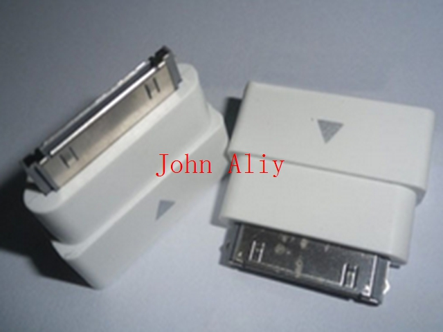 Free Shipping 100 pcs/lot 30pin M to F Dock Extender Extension Adapter For IPhone 4 4S iPad 2 3 iPod(China (Mainland))