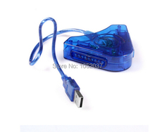 For Sony PSX PS1 PS2 Play Station 2 Joypad to PC USB Games Controller Adapter Converter Cable ,Dual Ports +CD Driver