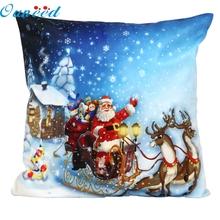 Buy New Home Decorative Christmas Santa Claus Pillow Case Sofa Waist Throw Cushion Cover Home Decor Free 45cm*45cm Aug26 for $2.06 in AliExpress store
