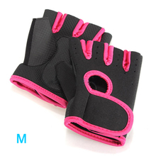 Super sell Sport GYM Half Finger Gloves - Black with Red edge M(China (Mainland))