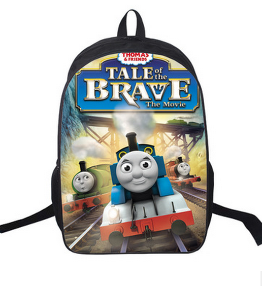 2015 Kids Backpack Thomas Train First School Bags Satchel Mochila 3D Cartoon Orthopedic Children School Bags For Girls Boys(China (Mainland))