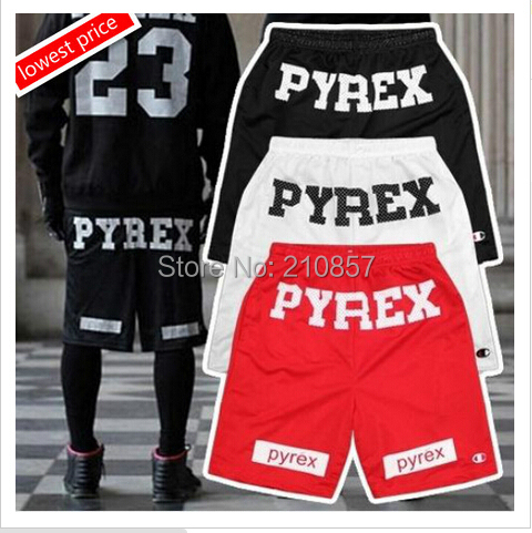 2015 Newest Kanye west jay-z R&B hiphop style PYREX VISION Fashion Mid Loose Drawstring pyrex Shorts Trousers 3 Color M L XL - Happy Shopping Heaven store