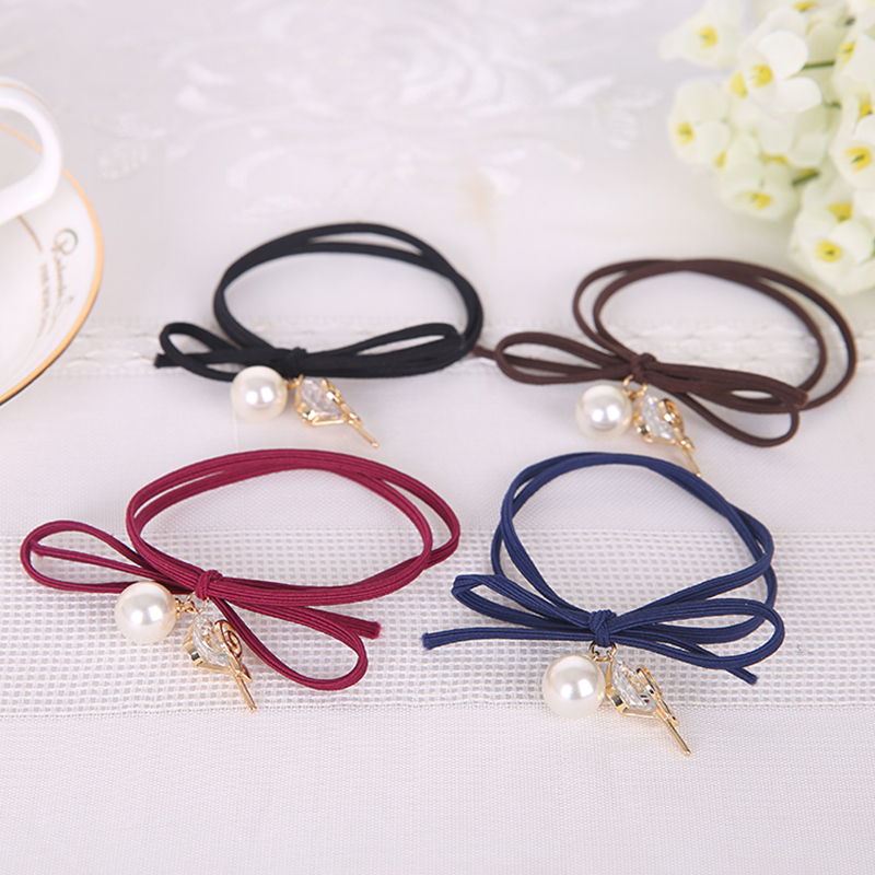 4 Colors High Elastic alloy hairbands Seamless Durable Hair-Friendly Hair Band Rubber Bands for Hair Accessories Headwear E0062(China (Mainland))