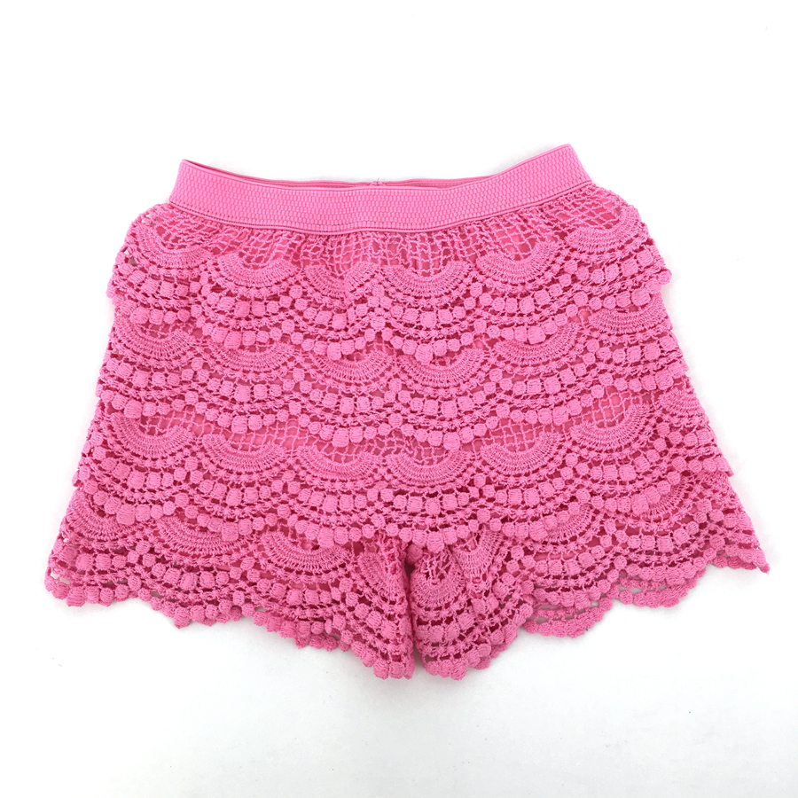 Baby Girls Shorts Openwork Crochet Embroidery Lace