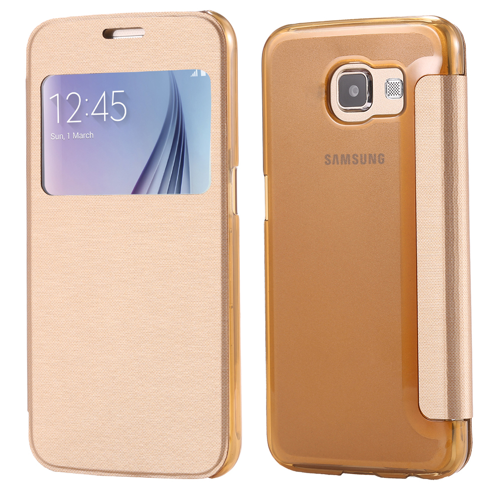 For Galaxy S6 Edge Cases Luxury View Window Flip Case For ...