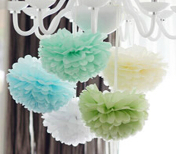 15cm=6 inch Tissue Paper Flowers paper pom poms balls lanterns Party Decor Craft Wedding multi color option whcn+(China (Mainland))