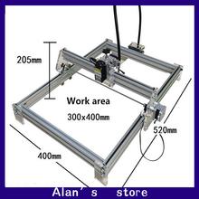 Laser 30 * 40cm large area 5500 mw laser engraving machine DIY mini engraving machine 5.5 w laser module laser cutter machine