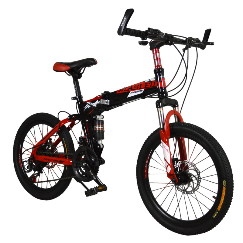 20 inches bicycles Steel Folding bike 21 speed folding mountain bike double disc brakes mountain bicycle