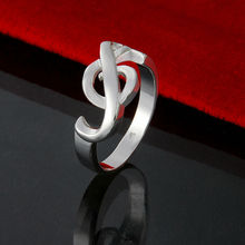 Promotion! Free shipping / High Quality /Fashion Jewelry 925 silver ring special musical note Ring Factory wholesale Price JZ027