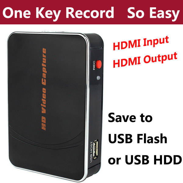 HDMI HD Game Video Capture Card Recorder Box for Xbox PS3 PS4 Video camera TV Set-top Boxes with decode Function,NO PC Need(China (Mainland))