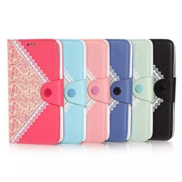 High Qulaity Dual Lace Design PU Leather Wallet Case Phone Cover For Samsung Galaxy Note 4 N9100+Screen Firm(China (Mainland))