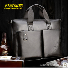 2015 men shoulder of the man bag Messenger bag to casual briefcase business bag.Retail, wholesale Free Shipping(China (Mainland))