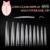 10bag/lot  Clear Long Nail Tip Pointed stiletto Fake Nails for Nail Art