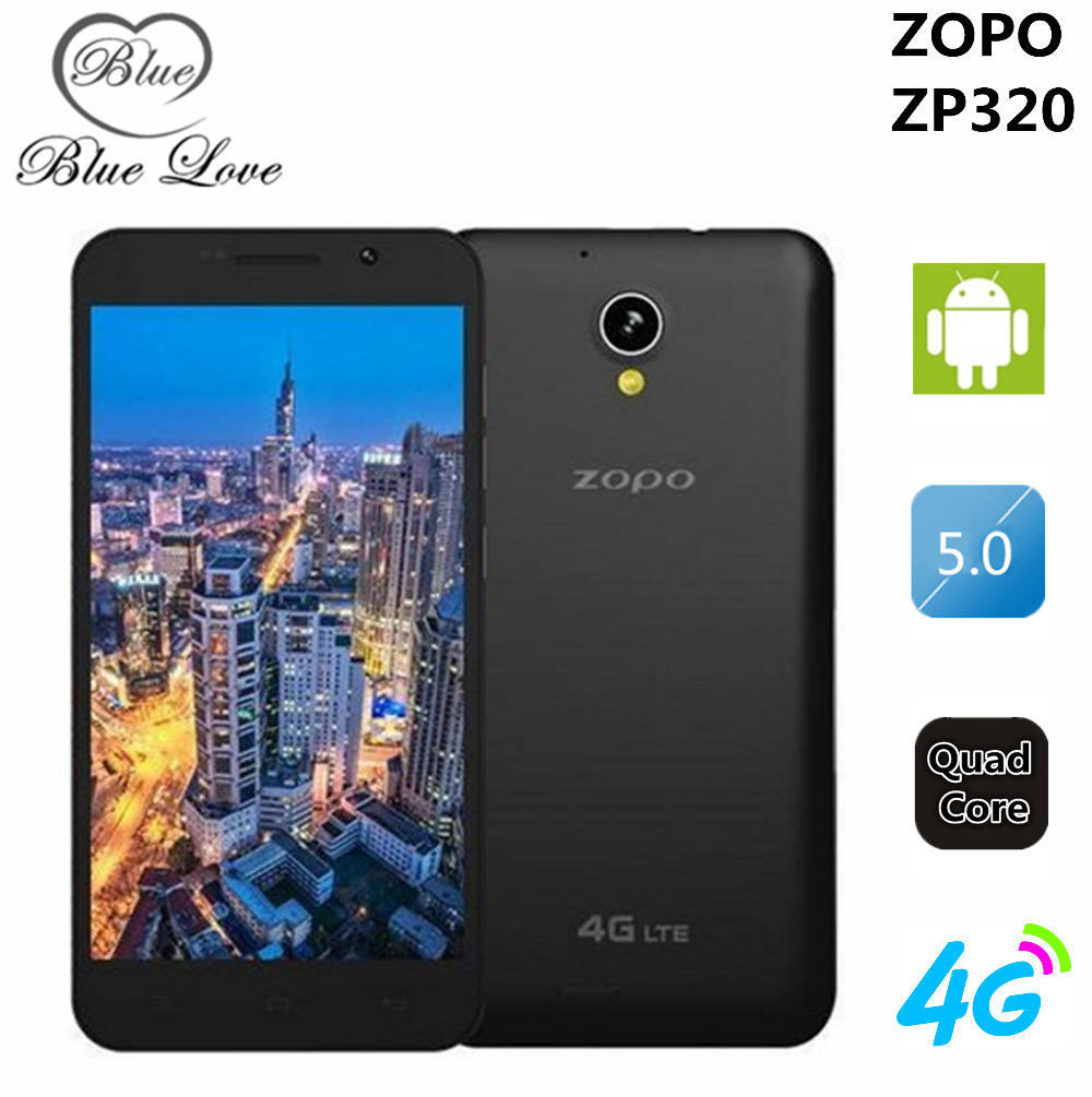 ZOPO ZP320 4G LTE Cell Phone MTK6582 Quad Core 5.0 inch 960540 IPS Screen Android 4.4 1GB RAM 8GB ROM 2300mAh Dual SIM(China (Mainland))