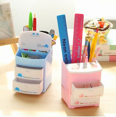 Cute cartoon small objects container with layer drawers - Cute desk accessories and organizers ...