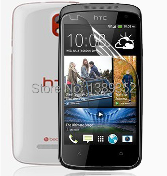 1PCS Front Clear Full Body LCD Screen Protector For HTC Desire 500 Protective Film Guard With Cloth & Package(China (Mainland))