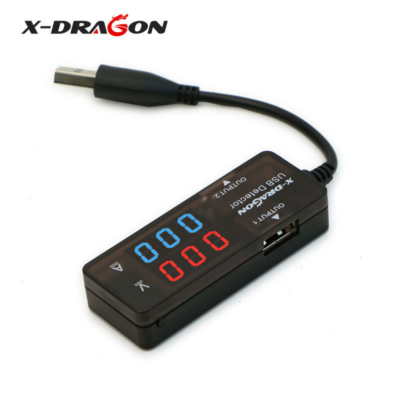 X-DRAGON Power Meter Tester Multimeter Current & Voltage Monitor, Test Speed of Chargers Power Banks Dual USB Digital.(China (Mainland))