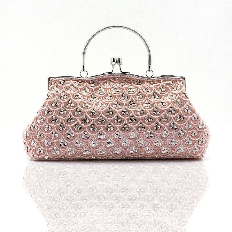 2016 Famous Brand Beading Vintage style evening bag chains shoulder bag Women Grace Handbag Fashion Shoulder Messenger bag XA38D(China (Mainland))