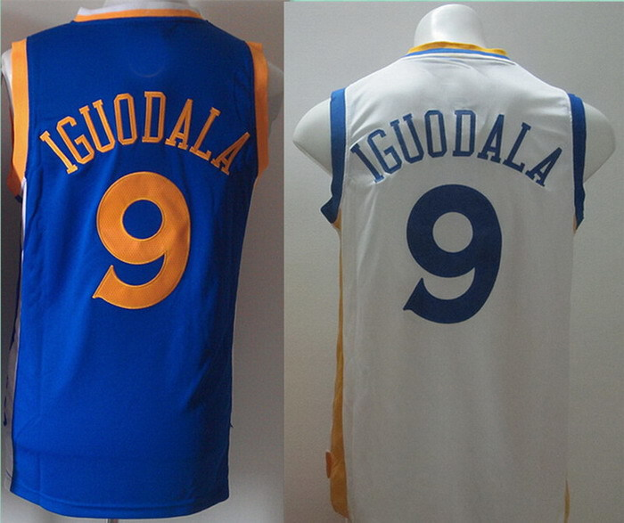 #9 Andre Iguodala Jersey Embroidery Logo Sports Jersey Entertainment Sportswear Throwback Basketball Jerseys Free Shipping(China (Mainland))