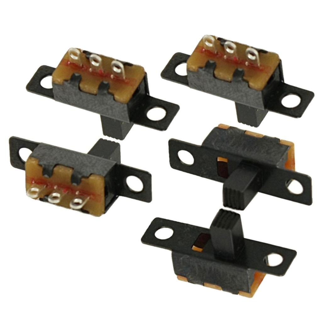 5 Pcs 50V 0.5A 3 Pin 2 Position On/OFF 1P2T SPDT Slide Switch 3 Pin