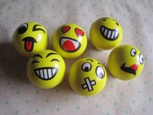 63mm PU foam ball smiley face ball grip the ball the gifts children's toys ball(China (Mainland))