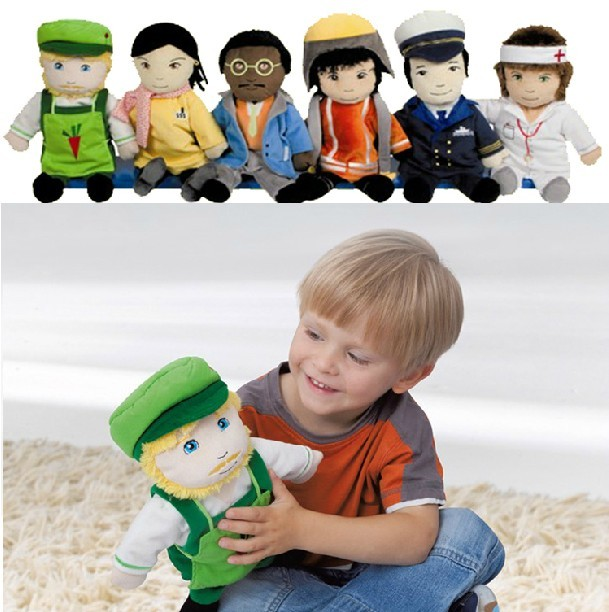 2016 baby toy puppet of different profession like doctor teacher policeman pilot gardener lawyer good for role play game 6pcs(China (Mainland))